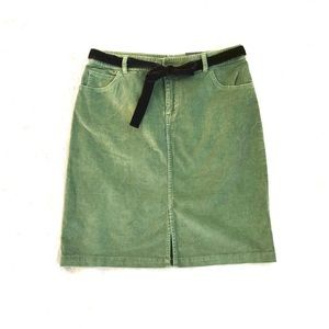 St. John's Bay NWT corduroy skirt velvet belt